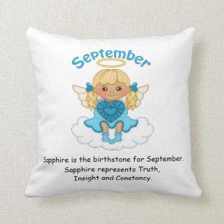September Birthstone Angel Blonde Cushion
