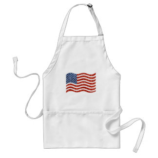 sequin american flag standard apron