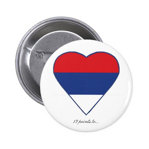 SERBIA PINBACK BUTTONS