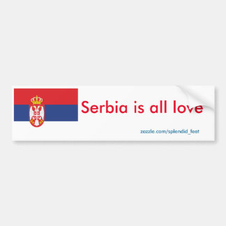 serbia bumper sticker