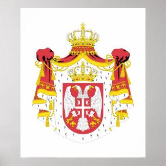 Serbia COA Poster
