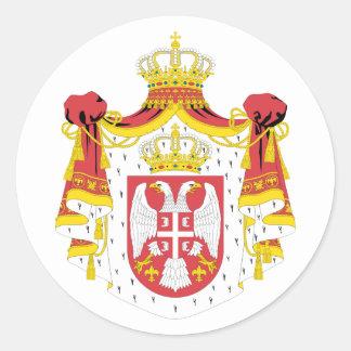 Serbia COA Round Sticker