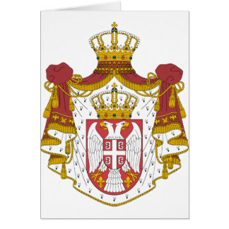 Serbia Coat of Arms Greeting Card