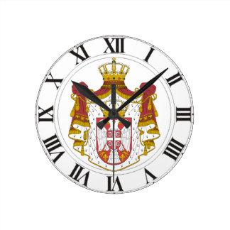 Serbia Coat of Arms Clocks