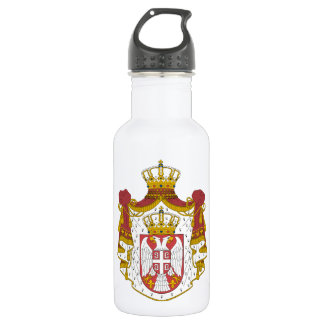 Serbia Coat of Arms 18oz Water Bottle