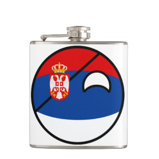 Serbia Countryball Flasks