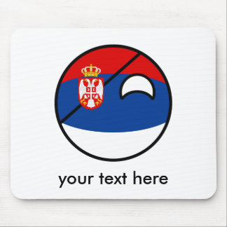 Serbia Countryball Mouse Pad