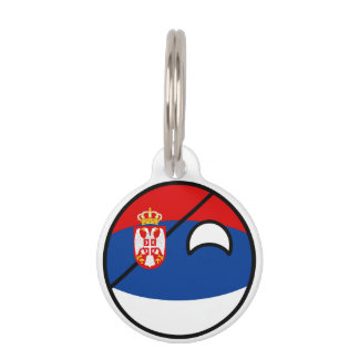 Serbia Countryball Pet Name Tag