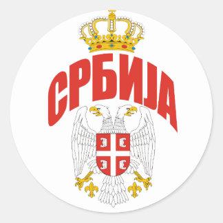 Serbia Cyrillic Round Sticker