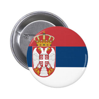 Serbia Flag Pinback Buttons