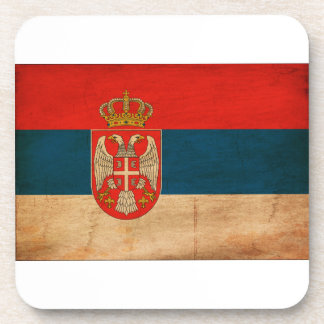 Serbia Flag Beverage Coaster