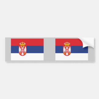 Serbia Flag Bumper Sticker