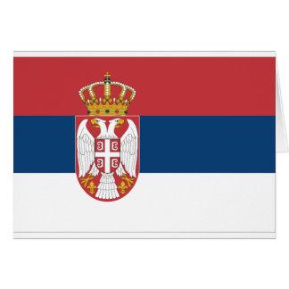 Serbia Flag Greeting Cards