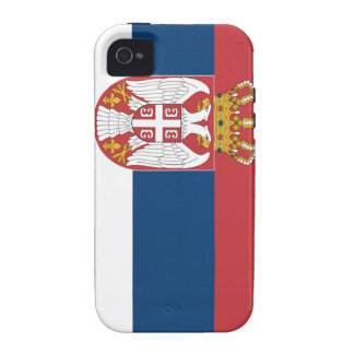 Serbia Flag Vibe iPhone 4 Covers