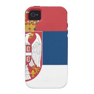 Serbia Flag iPhone 4 Case