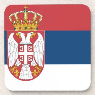 Serbia Flag Beverage Coasters
