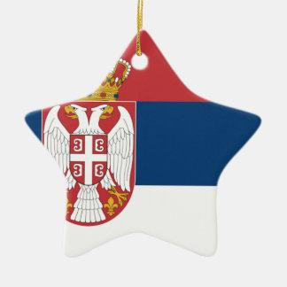 Serbia Flag Christmas Tree Ornaments