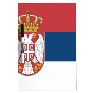 Serbia Flag Dry-Erase Board