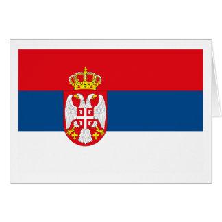Serbia Flag Greeting Card