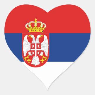 Serbia Flag Heart Sticker