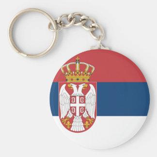 Serbia Flag Keychain