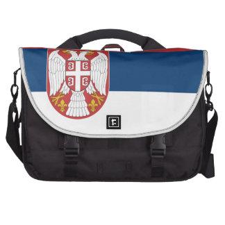 Serbia Flag Computer Bag