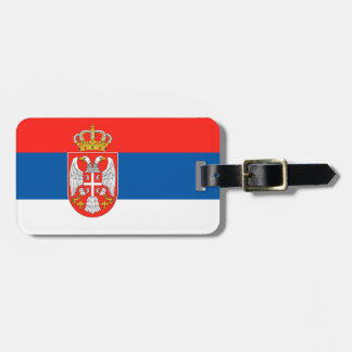 Serbia flag luggage tag