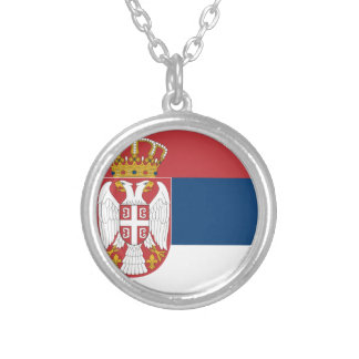 Serbia Flag Personalized Necklace