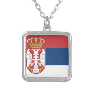 Serbia Flag Custom Necklace