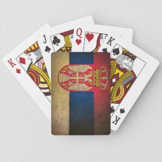 serbia flag poker deck