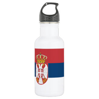 Serbia Flag 18oz Water Bottle