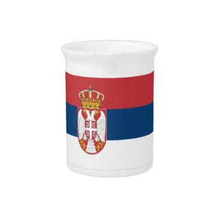 Serbia Flag Pitcher