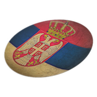serbia flag party plate