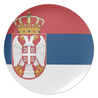 Serbia Flag Dinner Plates
