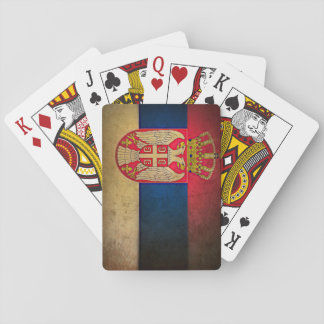 serbia flag playing cards