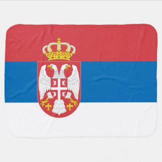 Serbia Flag Receiving Blankets