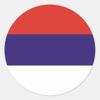 Serbia flag round sticker