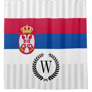 Serbia Flag Shower Curtain