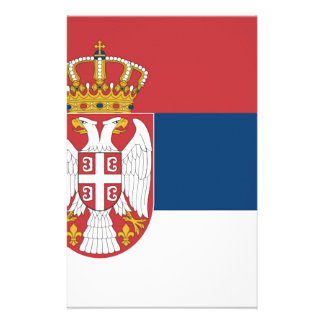 Serbia Flag Personalized Stationery