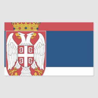 Serbia Flag Rectangular Stickers