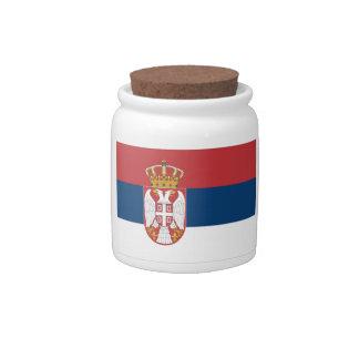 Serbia Flag Candy Jars
