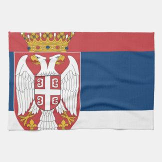 Serbia Flag Hand Towels