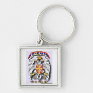 Serbia key chain