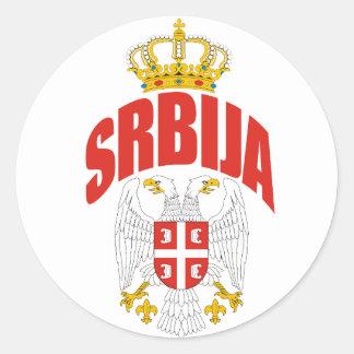Serbia Latin Round Sticker