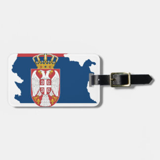 serbia luggage tag