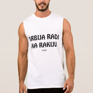 SERBIA RUNS ON RAKIJA SLEEVELESS T-SHIRT