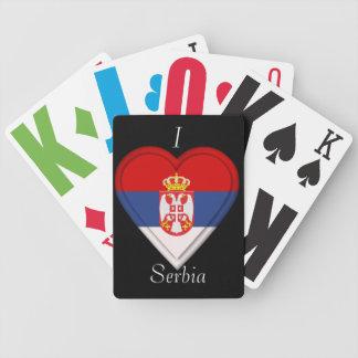 Serbia Serbian flag Poker Cards