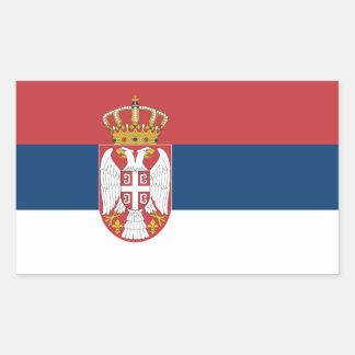 Serbia/Serbian Flag Rectangular Sticker