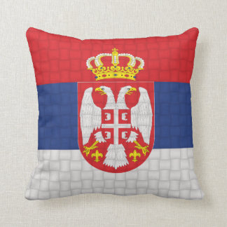 Serbia Serbian flag Throw Pillow