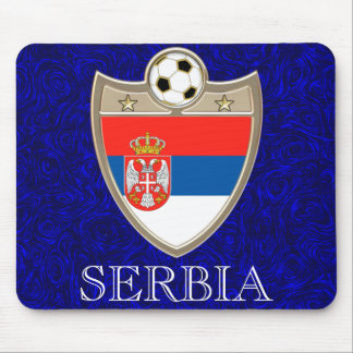 Serbia Soccer Mouse Pads